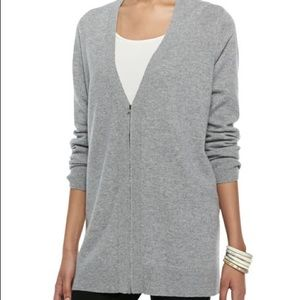 Eileen Fisher Grey Zip Up Sweater